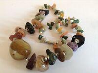 African Semi-Precious Gemstones Necklace - 50cm/19in - Ghana