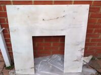 fireplace back panel- solid marble, unused