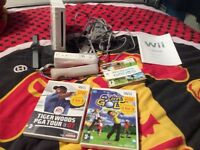 Wii console plus 3 games for sale
