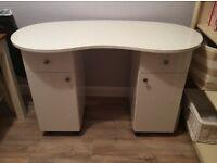 White Gloss Stunning Nail Desk