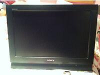 """Sony Bravia 17"""" TV with wall bracket"""