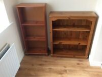 Two Pine Bookcases
