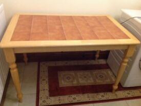 I have for sale a nice table and four chairs