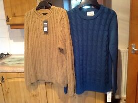 BRAND NEW WITH TAGS 2 X LARGE JUMPERS. £5 EACH or BOTH for £8. Absolute bargain !!!!!