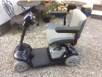 Strider car boot size luxury mobility scooter, DISMANTLES EASILY, can deliver