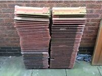 Used Redland Regent Roof Tiles Farmhouse Red x 70 + Valley Tiles x 6