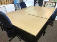 1600mm x 800mm Straight Desk - Oak Veneer