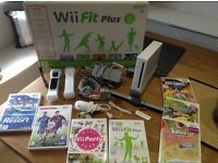 Wii Console, Wii Fit Plus Board, 8 Games & Accessories