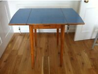 Vintage wood and formica folding kitchen table