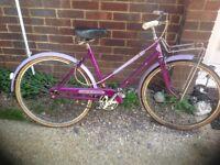 Vintage Teenagers or Small Ladies Elswick 1962 Town Bike 3 Speed