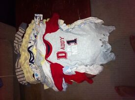 Baby grows,clothes,hats,mittens,coats,blankets and bibs