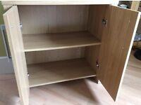 Two door, two shelf cabinet.