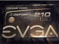 NEW EVGA GeForce 210 Passive \ 1024 MB DDR3 \ PCI Express 2.0 DVI/HDMI/VGA Graphics