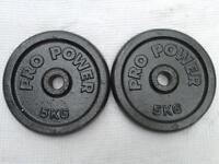 4 x 5kg Pro Power Standard Cast Iron Weights