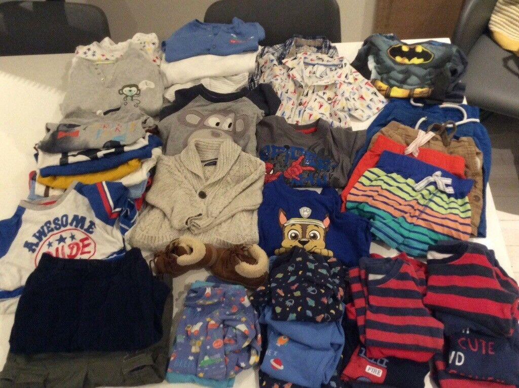 9dfc42e15 Bundle of clothes for boys aged 12-18 months