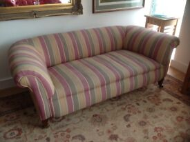 Chesterfield fabric covered