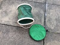 Folding bucket for camping