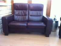 Stressless Real Leather Two Seater Recliner