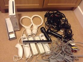 Wii Bundle with controllers and games.