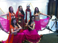 Walimaa-Mehndi-Nikaah-Wedding-Birthday - male and female dhol players and bollywood-dancers