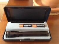 MINI MAGLITE Model M2A01L. Includes 2 x AA Batteries.