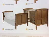 Mamas & Papas Brook cot bed - free matching changing station - can deliver