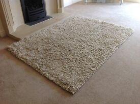 Beige fireside rug