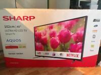 """40"""" Sharp aquos smart tv, brand new still sealed"""