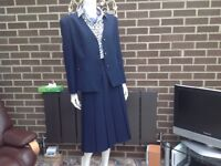 Ladies 3 piece suit. Navy blue. Size 16-18. As New.