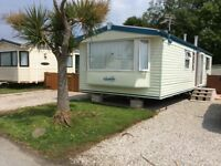 Caravan for hire at Snowland Leisure Group Ltd near Fowey Cornwall