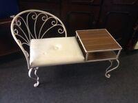 Vintage telephone seat/table