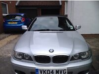 A Must See BMW 330ci, 2004 low mileage, MOT till May 2018, 4 brand new tyres & upgraded stereo