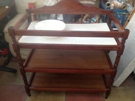 Baby Changing Table and bowl