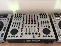 2 x vestax turntables and Allan & Heath xone 3d mixer for sale