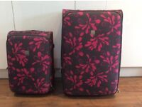 Large and Small Tripp Floral Suitcases