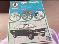 Opel Kadett Owners workshop Manual.