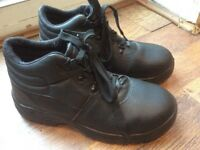 STEEL TOE MACHINE WASHABLE WAREHOUSE BLACK WORK SHOE STEEL INDUSTRIAL UK7