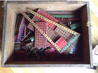 Box of metal Meccano