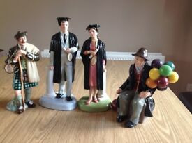 4 Immaculate Royal Doulton Figurines with Orig Tags