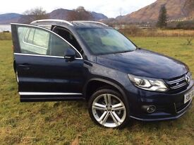 VW 2016 Tiguan 2.0 diesel DSG 4Motion 185Bhp RLine & BMT All Leather & panoramic sun roof
