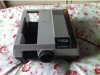 hanimax projector complete with spare lamp slide box slide carriers and foldable screen