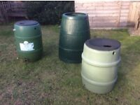 2 Water butts and single compost bin