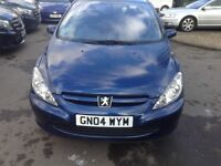 04 plate, 1.6 Petrol, Metallic Blue Peugeot 307 for sale.