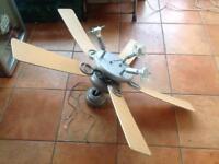 Sealing fan with spot lights.