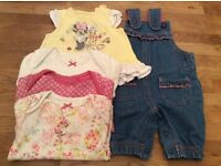 Small Bundle Of Baby Girl Clothes Size Newborn