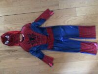 Spiderman costume & mask 5-6 yrs