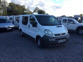 Vauxhall vivaro 19 crew van 5 seater no vat mint condion no vat