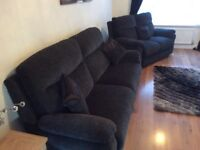Two seater and Three seater Lazyboy Tamla Sofas Charcoal