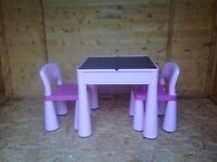 Children's Table and 2 Chairs from Next