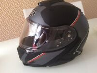 Shoei Neotec 2 Excursion TC - 5 patterned silver/ black helmet extra small.